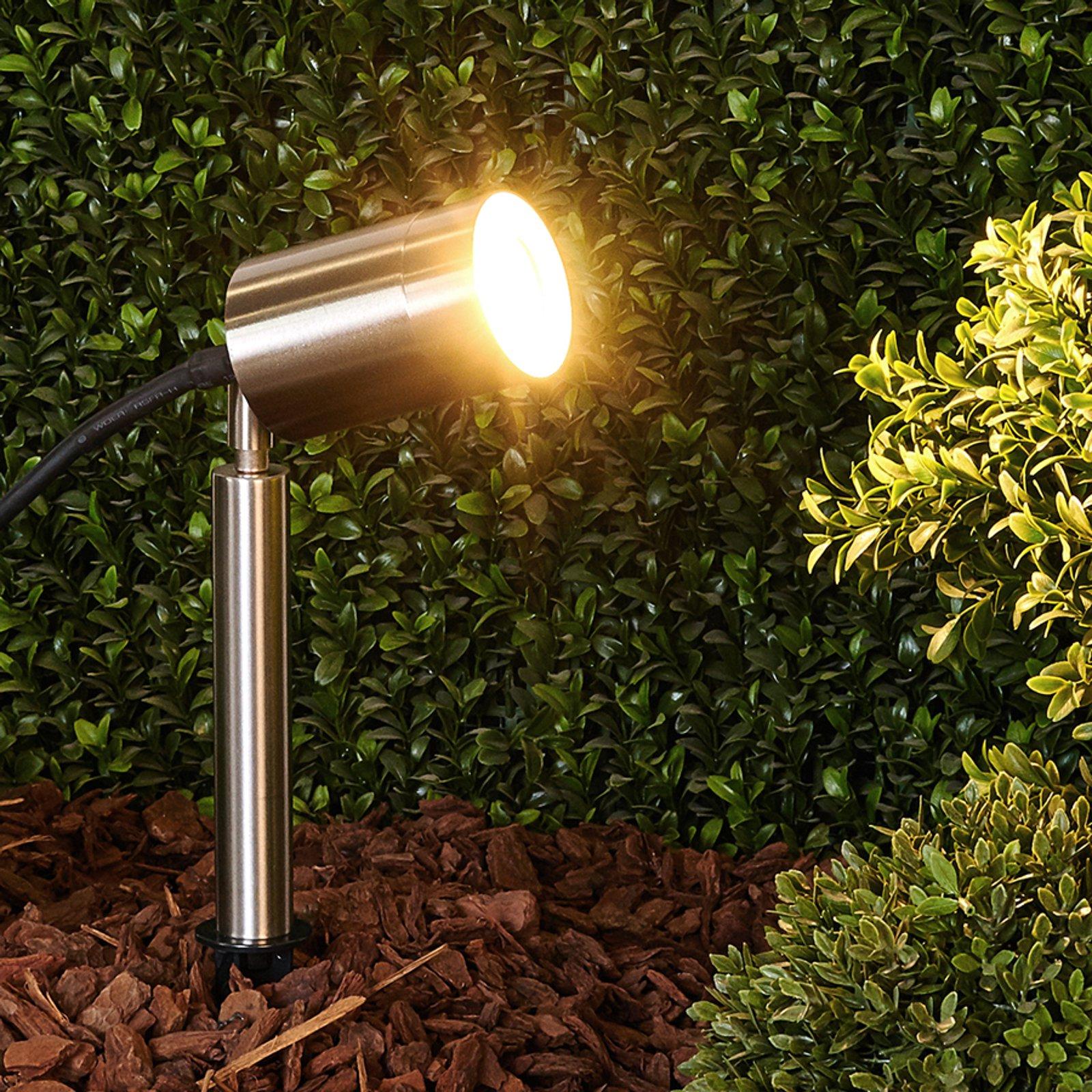 Eske - jordspydlampe av rustfritt stål, GU10-pære