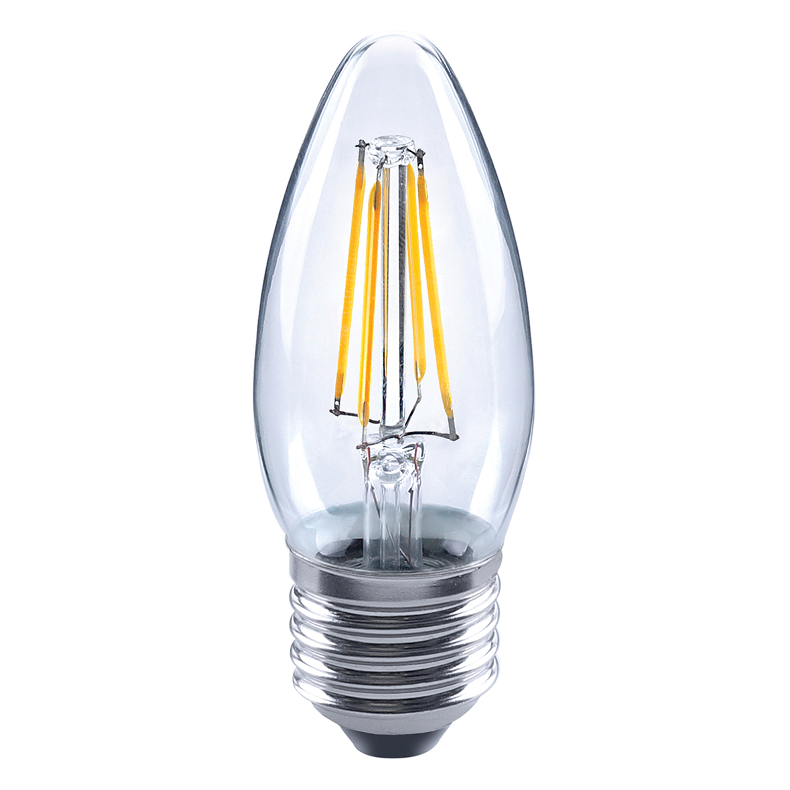 E27 4W 827 LED-hehkulankakynttilälamppu , kirkas