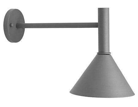 Tripp fasadelampe 230 V IP44 grå 50 cm
