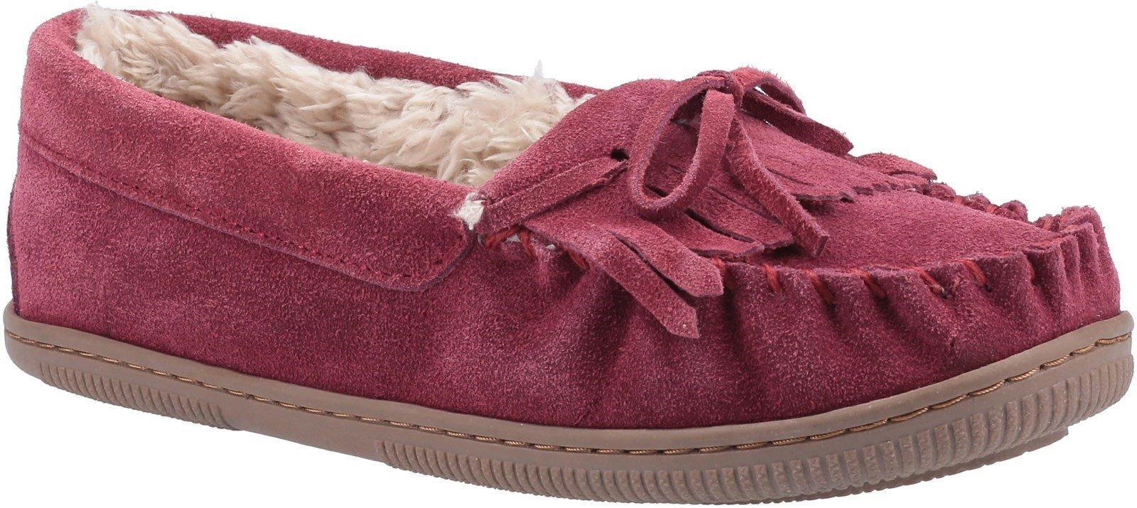 Hush Puppies Women's Addy Slip On Slipper Various Colours 29194 - Burgundy 3