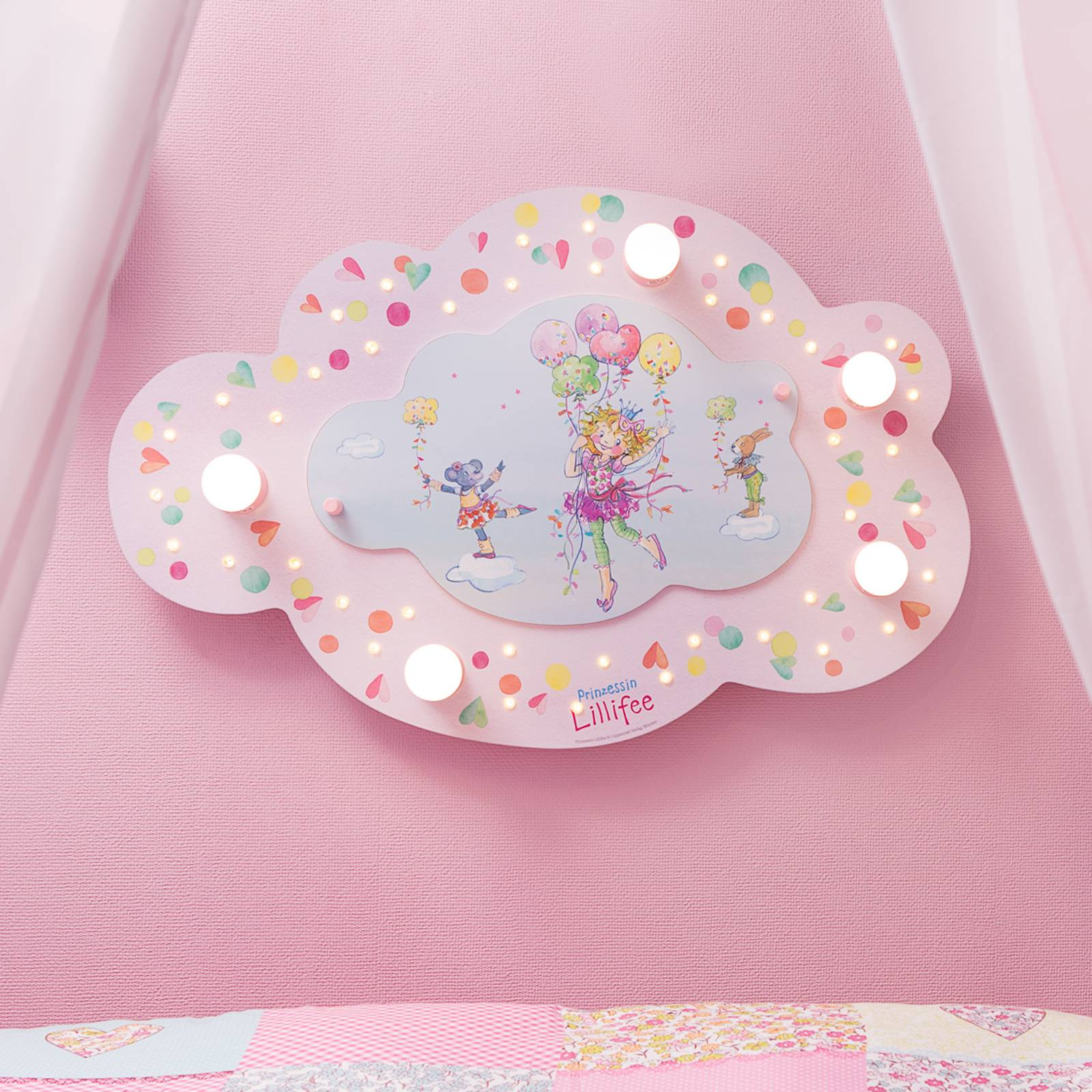 Prinsessa Lillifee LED-kattovalaisin, pilvi