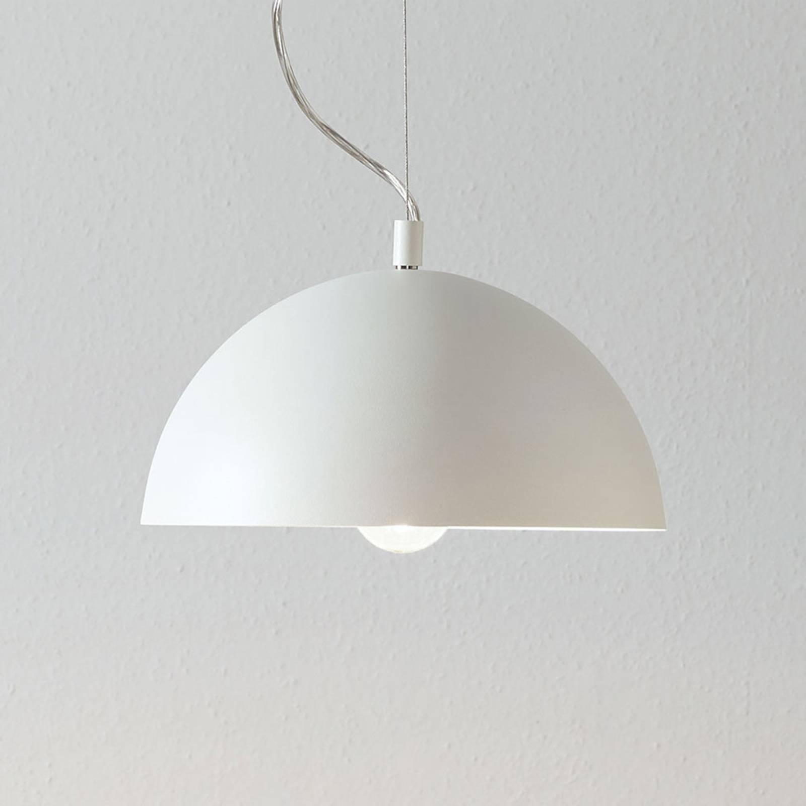 Lucande Maleo -riippuvalaisin 30 cm valkoinen