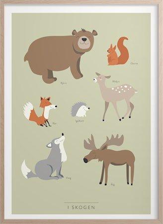 I skogen Poster 30x40 cm