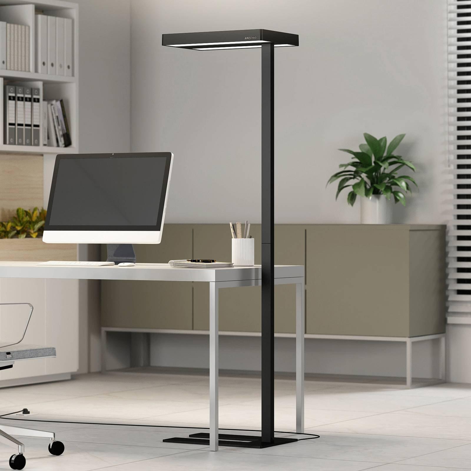 Arcchio Kalem gulvlampe til kontor, rund, svart