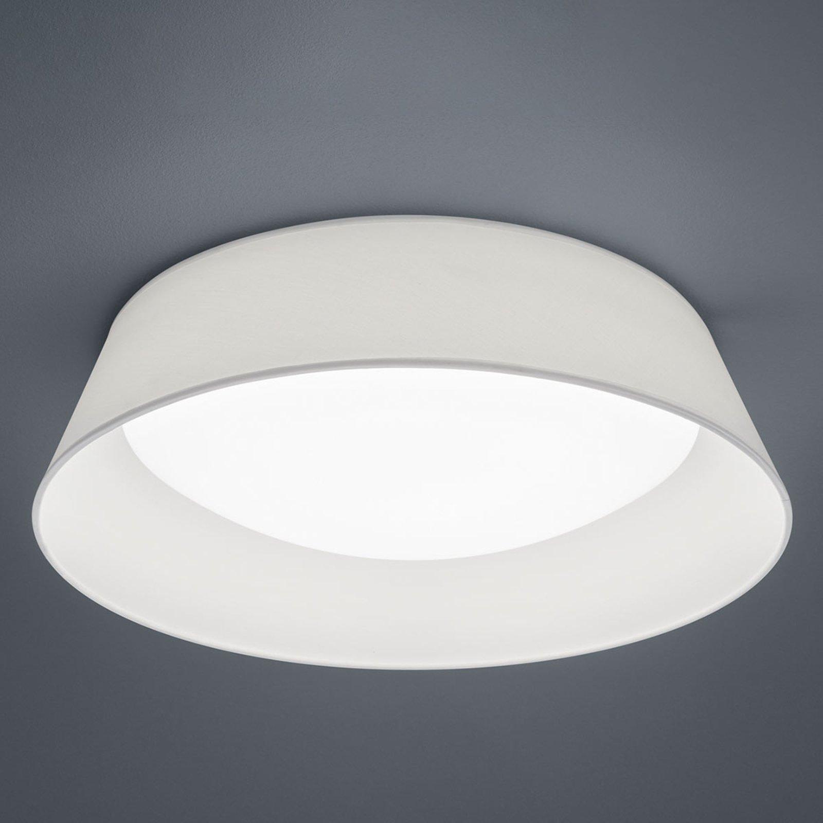 LED-taklampe Ponts med hvit tekstilskjerm