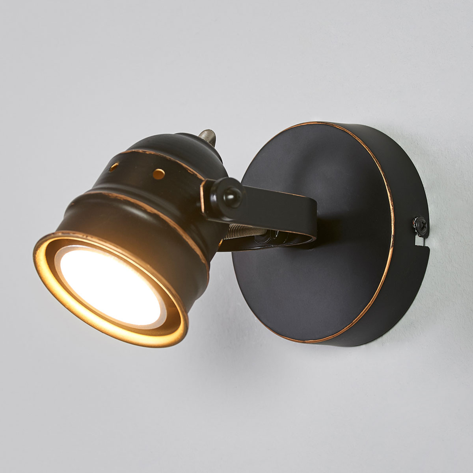 Musta-kultainen GU10-spottivalo Leonor, LED