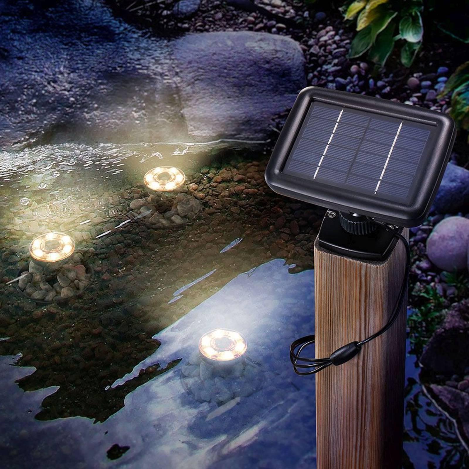 LED-aurinko-vedenalainen spotti 3 kpl