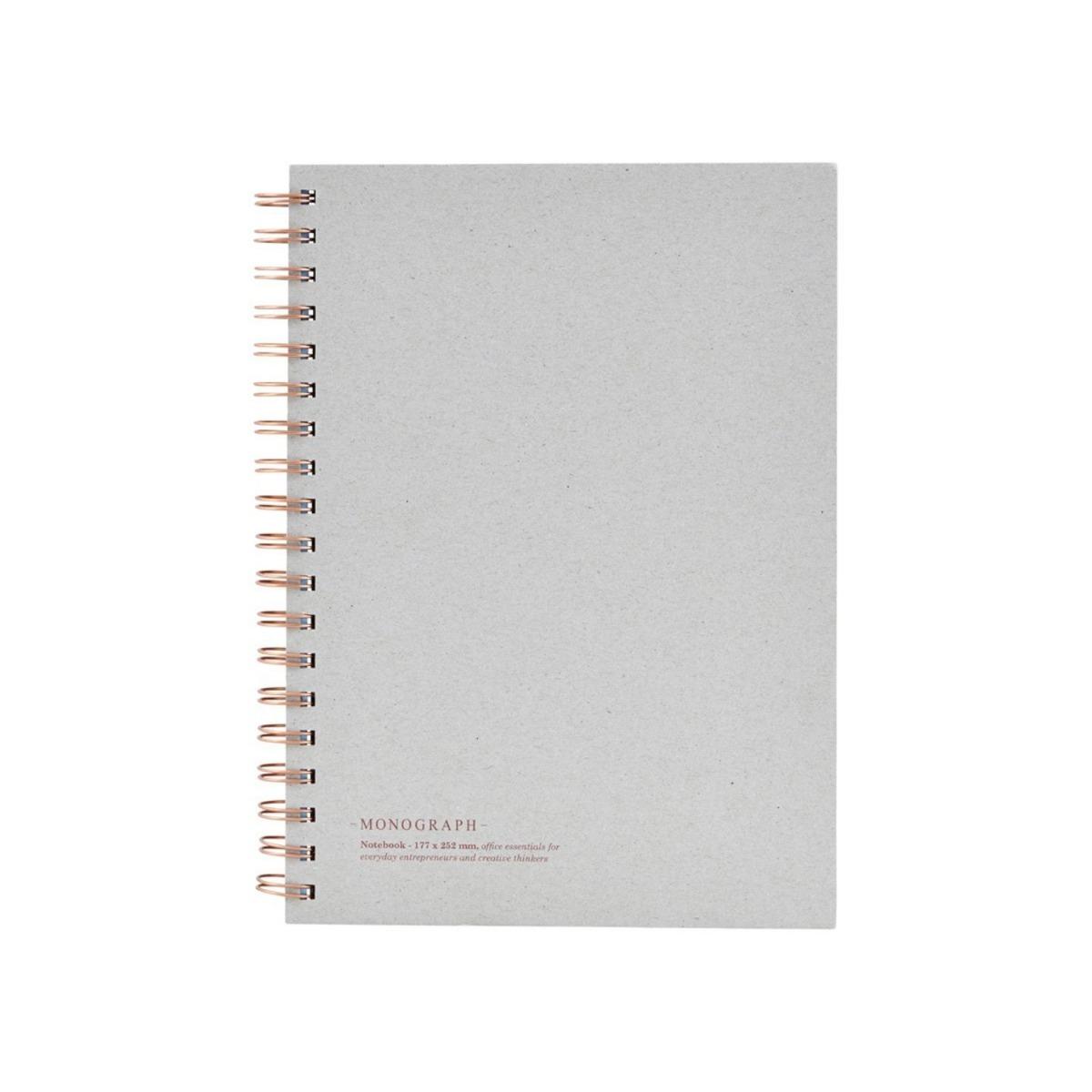 Monograph Anteckningsbok Tome 25,2x18 cm Grå