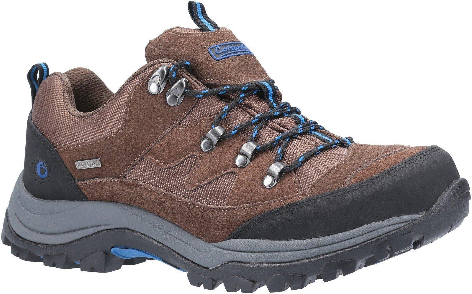 Cotswold Men's Oxerton Low Hiker Shoe Brown 26278 - Brown/Blue 7