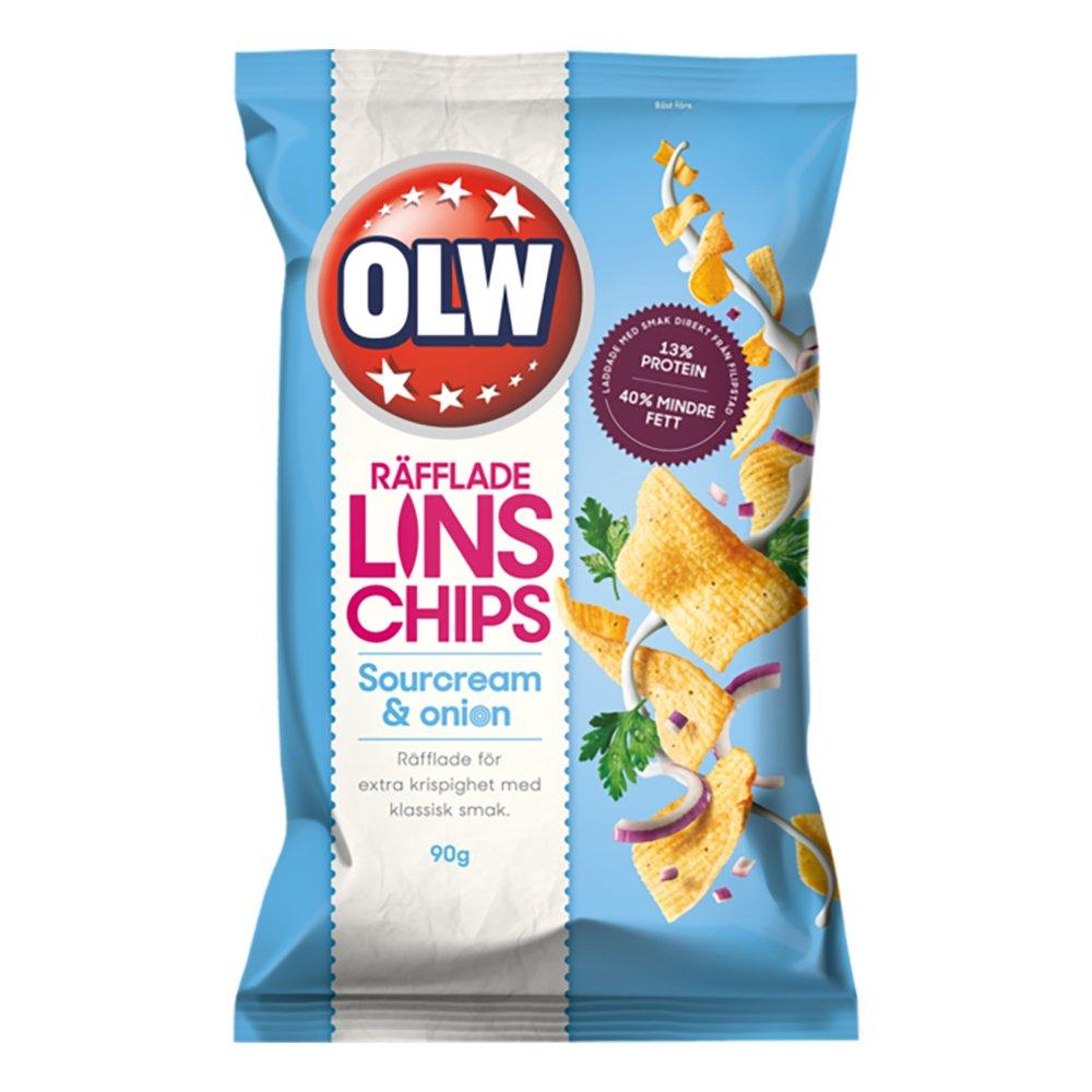 OLW Linschips Sourcream & Onion - 90 g