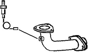 Pakoputki, Edessä, MAZDA 323 F VI, 323 S VI, ZM01-40-500A