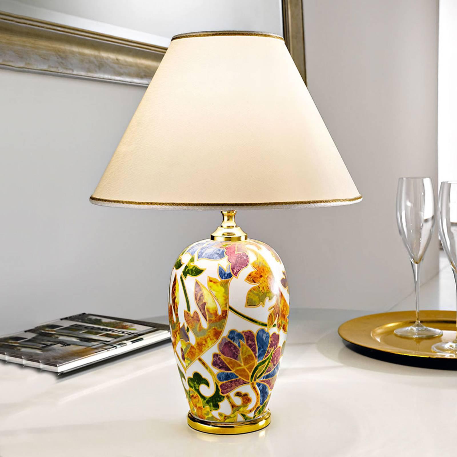 Bordlampe Damasco med 24 karat gull, Ø 30 cm