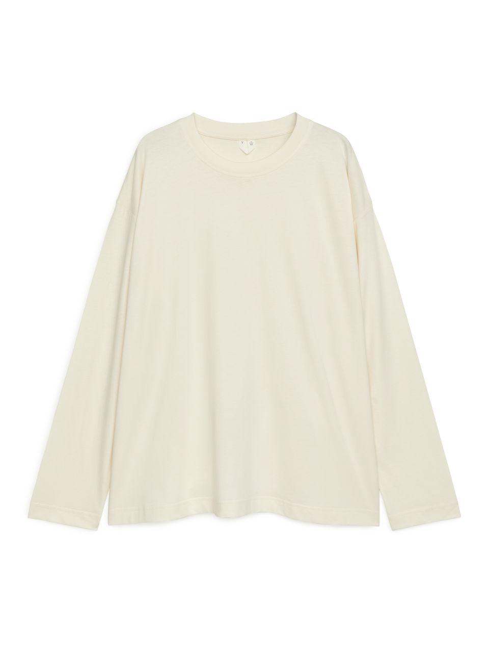 Oversized Pima Cotton T-shirt - White