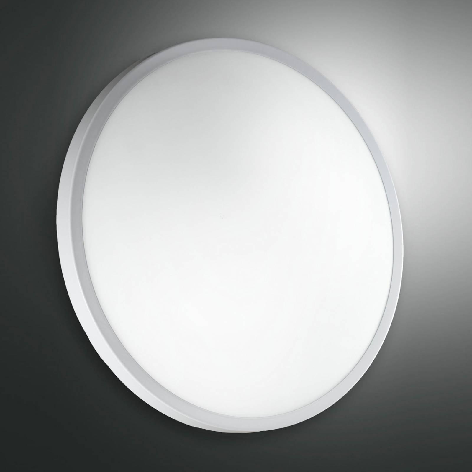Hvit PLAZA taklampe og vegglampe i glass 41 cm
