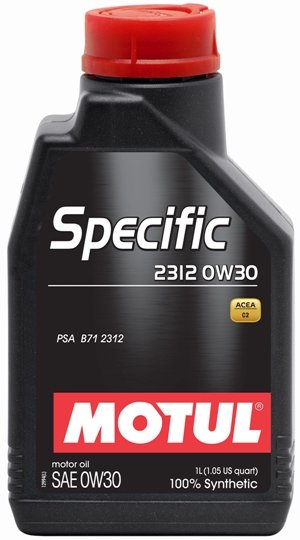 Moottoriöljy MOTUL SPECIFIC 2312 PSA 0W30 1L