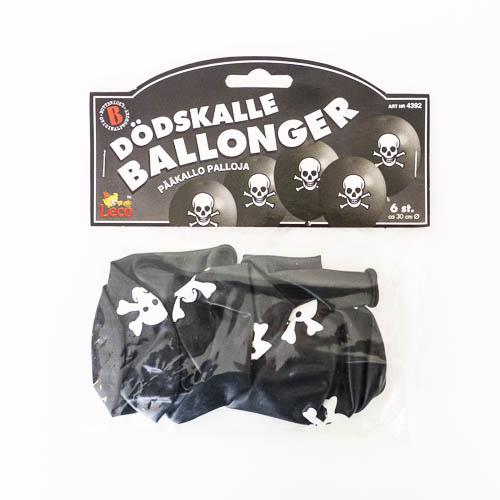 Dödskalleballonger - 6 st