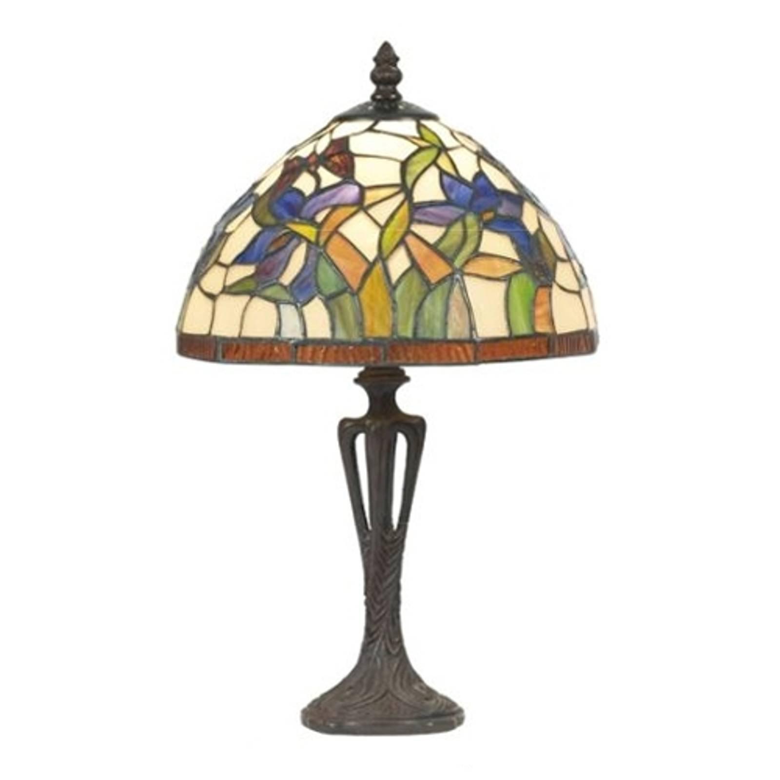Diskret ELANDA bordlampe i Tiffany-stil på 41 cm