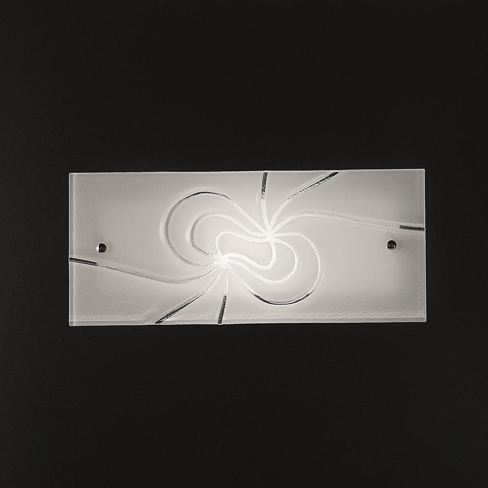 Dekorativ glassvegglampe Mistral 35 cm
