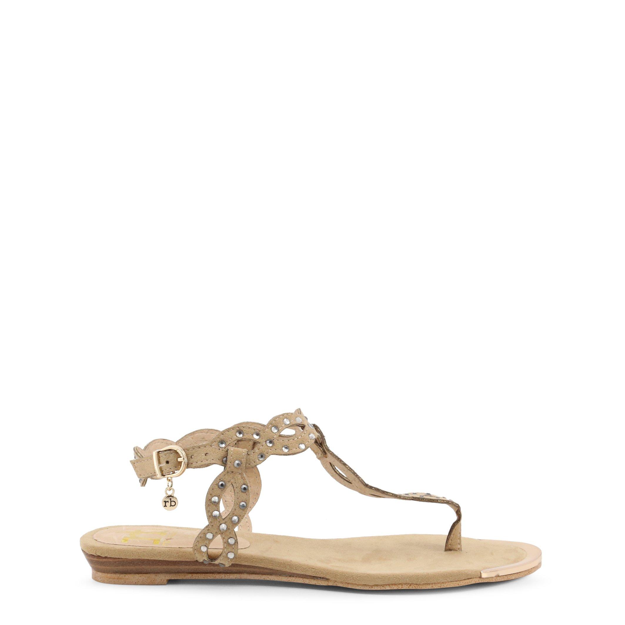 Roccobarocco Women's Sandal Black RBSC0M403CAM - brown EU 35