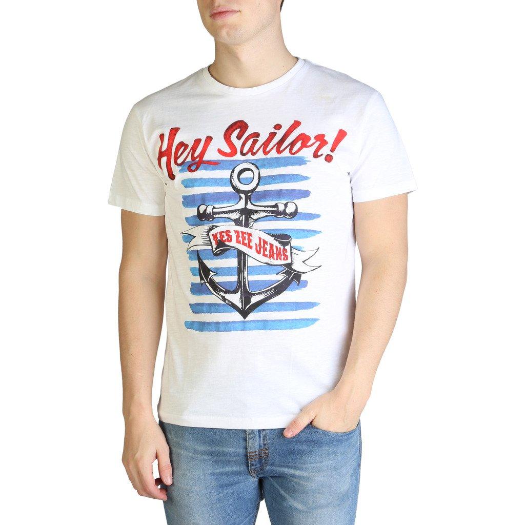 Yes Zee Men's T-Shirt Various Colours T700_TL18 - white S