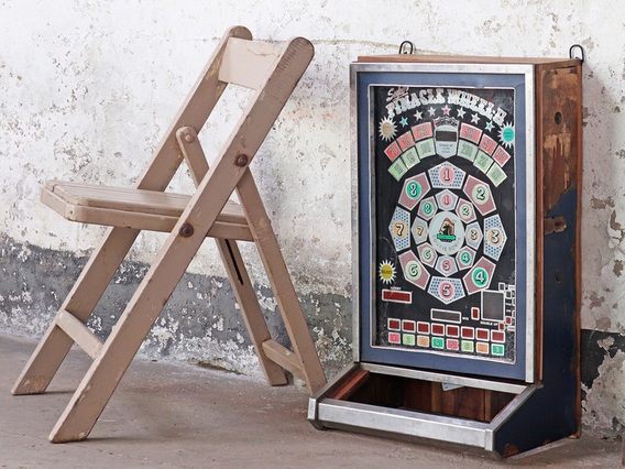 Upcycled Vintage Game-Machine Cabinet Medium