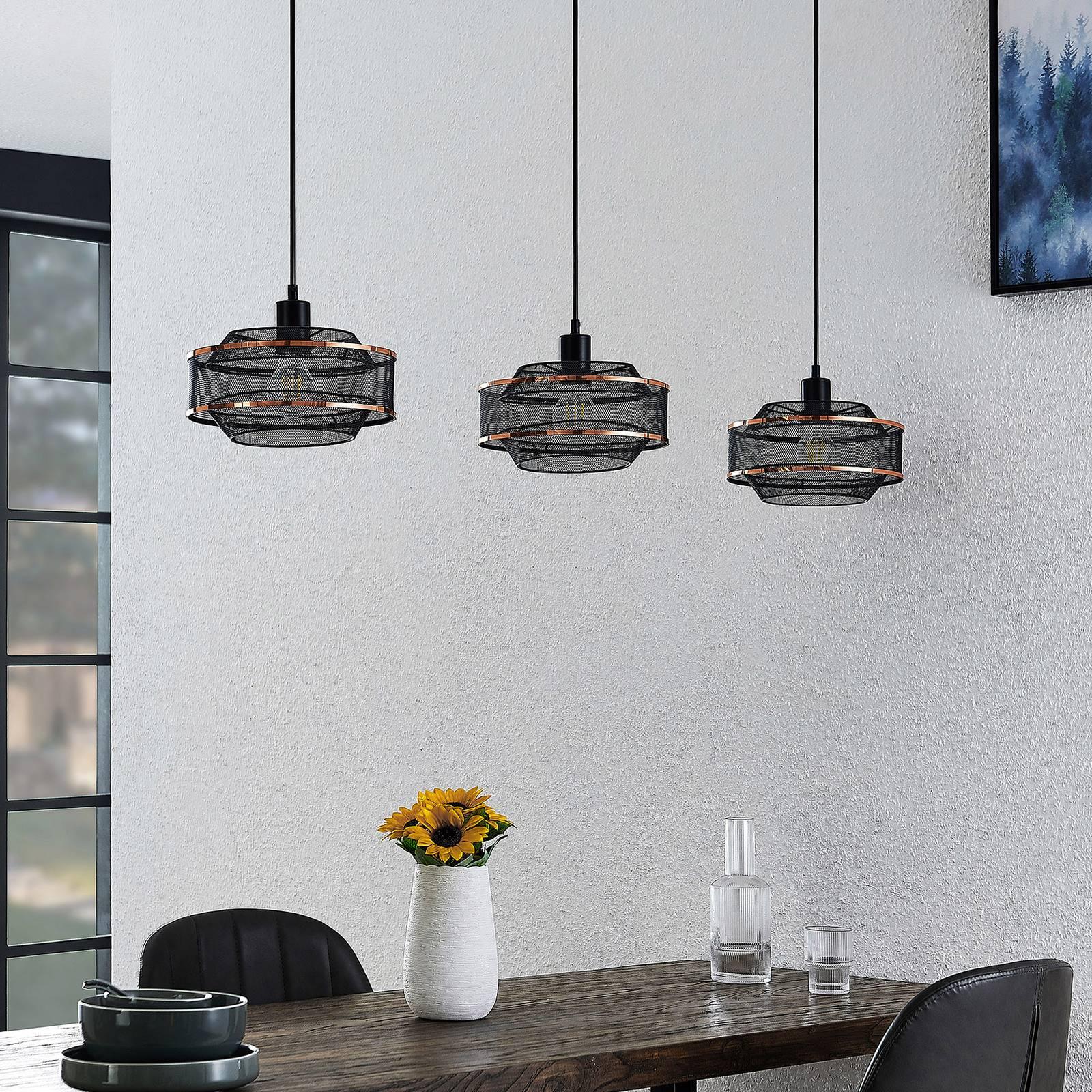Lindby Dionta -riippuvalaisin, 3-lamppuinen