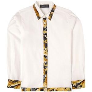 Versace Baroccoflage Detail Skjorta Vit 5 år