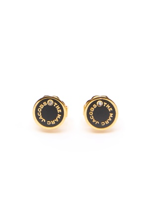 The Marc Jacobs The Medallion Studs Earrings 001 Black/Gold One size