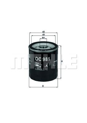 Öljynsuodatin KNECHT OC 981