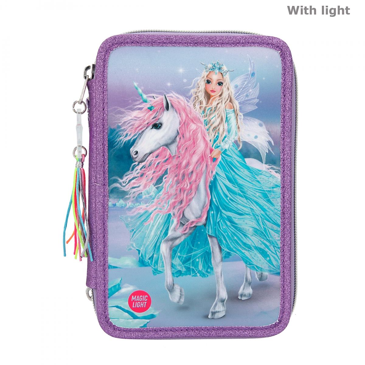 Top Model - Fantasy Trippel Pencil Case w/LED - Icefriends (11181)