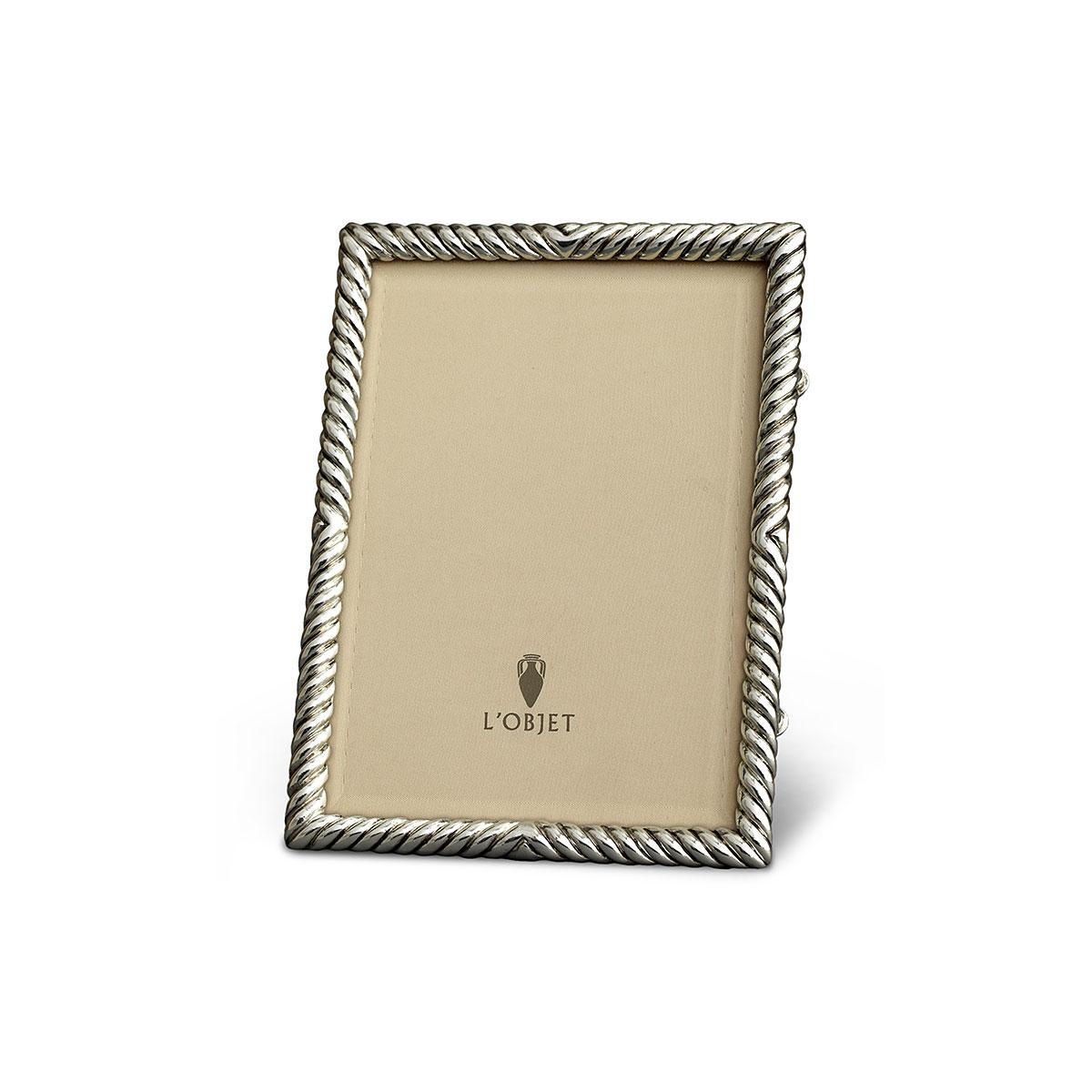 L'Objet I Deco Twist Frame Small Platinum