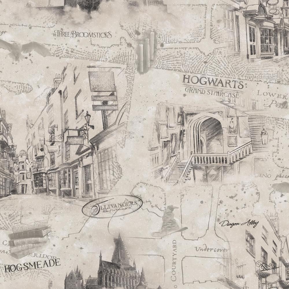 RoomMates Sisustustarrat Harry Potter Kartta