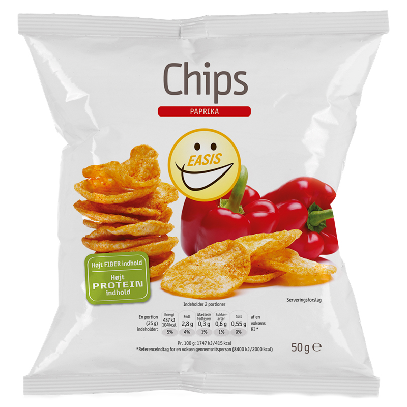 Chips Paprika 50g - 47% rabatt