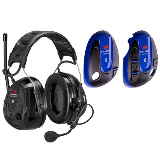 3M Peltor WS Alert XP Kuulonsuojain sininen kuori, Bluetooth, päälakisanka