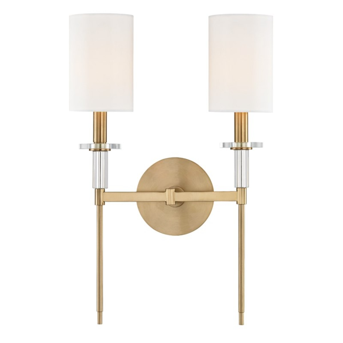 Hudson Valley   Amherst Double Wall Light   Aged Brass