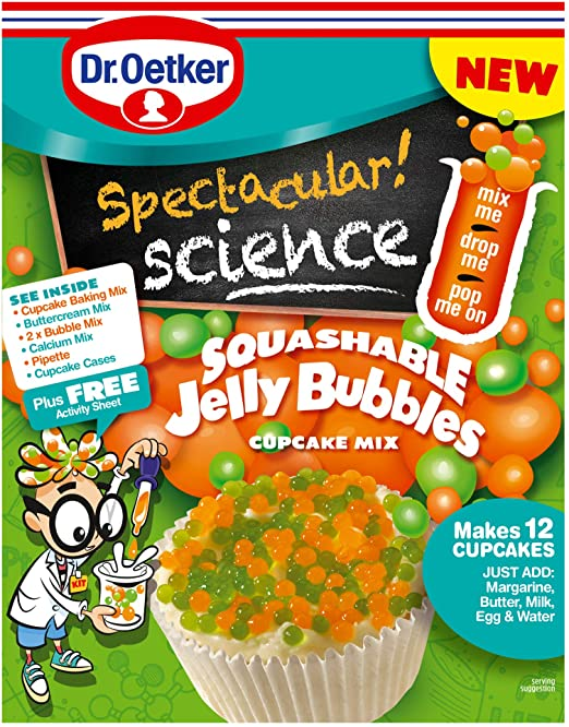 Dr oetker Spectacular Science Jelly Bubbles Cupcake Mix 325g