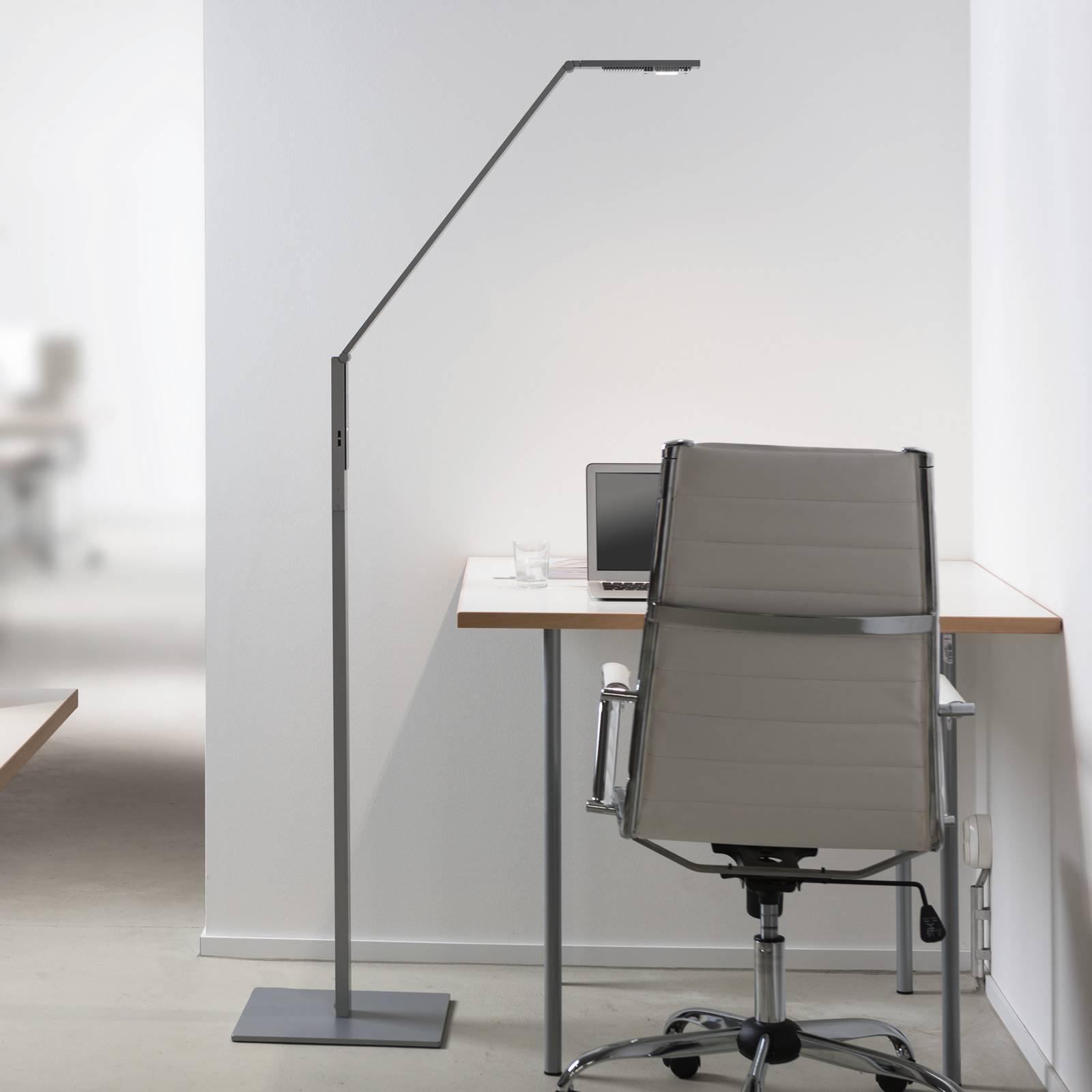 Luctra Floor Linear LED-lattiavalaisin alumiini