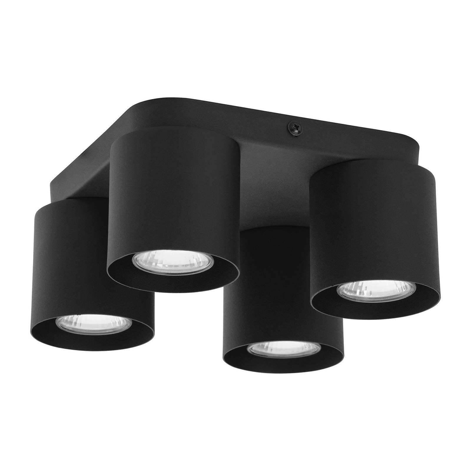 Kattovalaisin Vico, 4-lamppuinen, musta