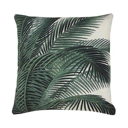 Pute Trykket Mønster Palmeblad 45x45 cm