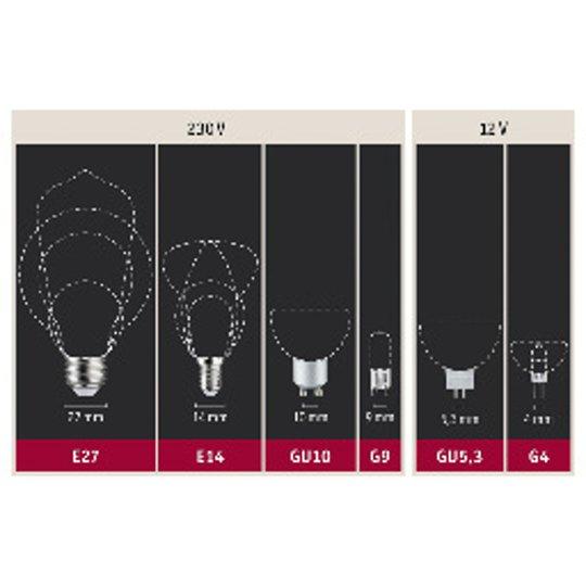 Paulmann-LED-lamppu E27 Filament punainen 1,3W