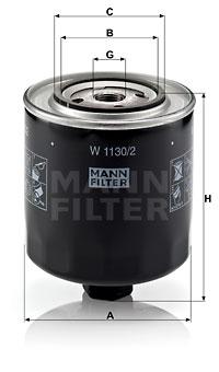 Öljynsuodatin MANN-FILTER W 1130/2