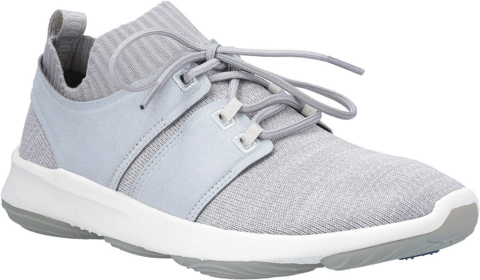 Hush Puppies Men's World BounceMax Lace Up Trainer Various Colours 28382 - Cool Grey Knit 6