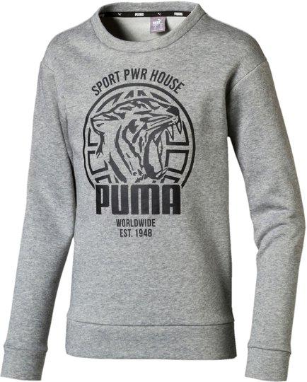 Puma Alpha Graphic Crew Genser, Medium Grey Hea 92