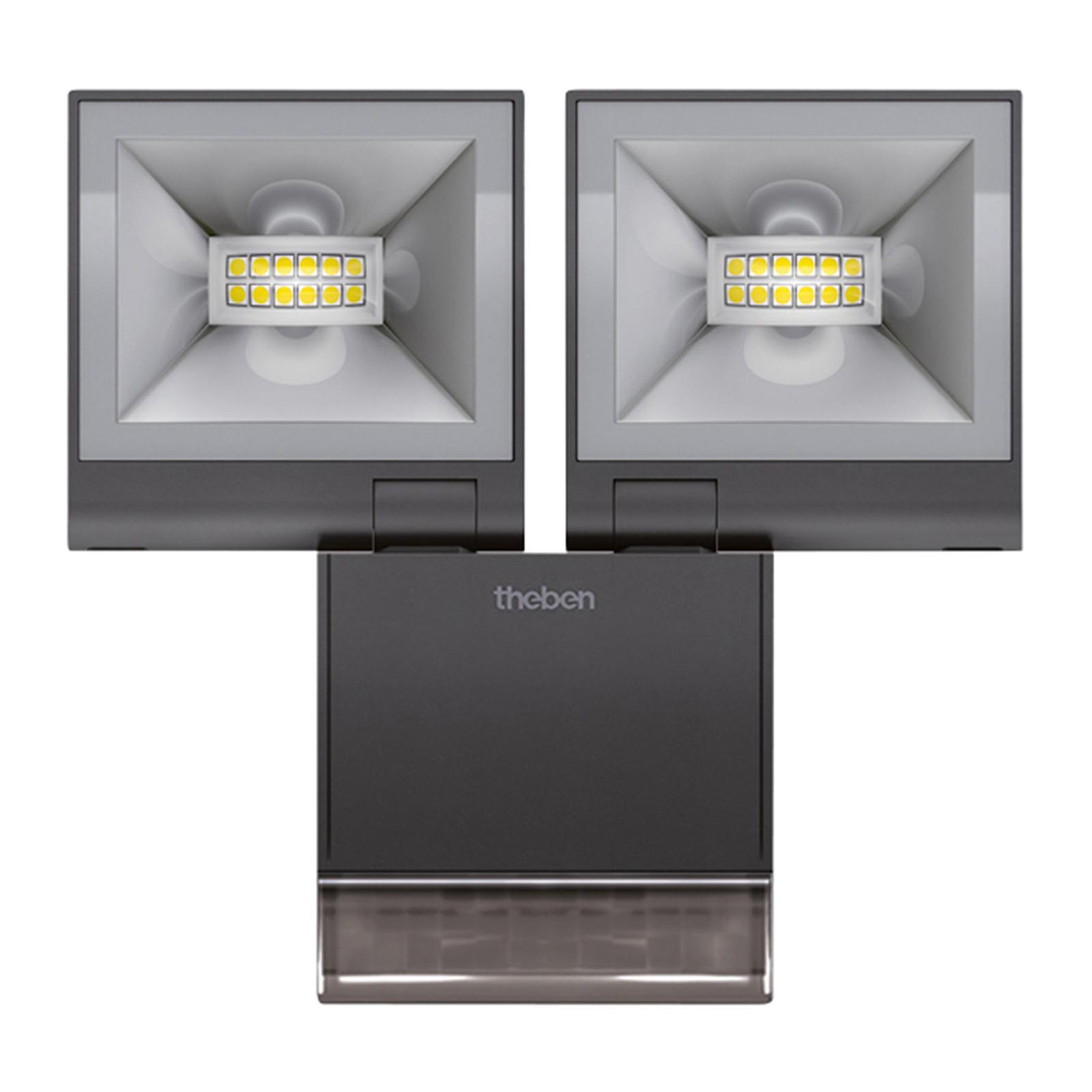Theben theLeda S20 2-lamp. tunnistin 3000K musta