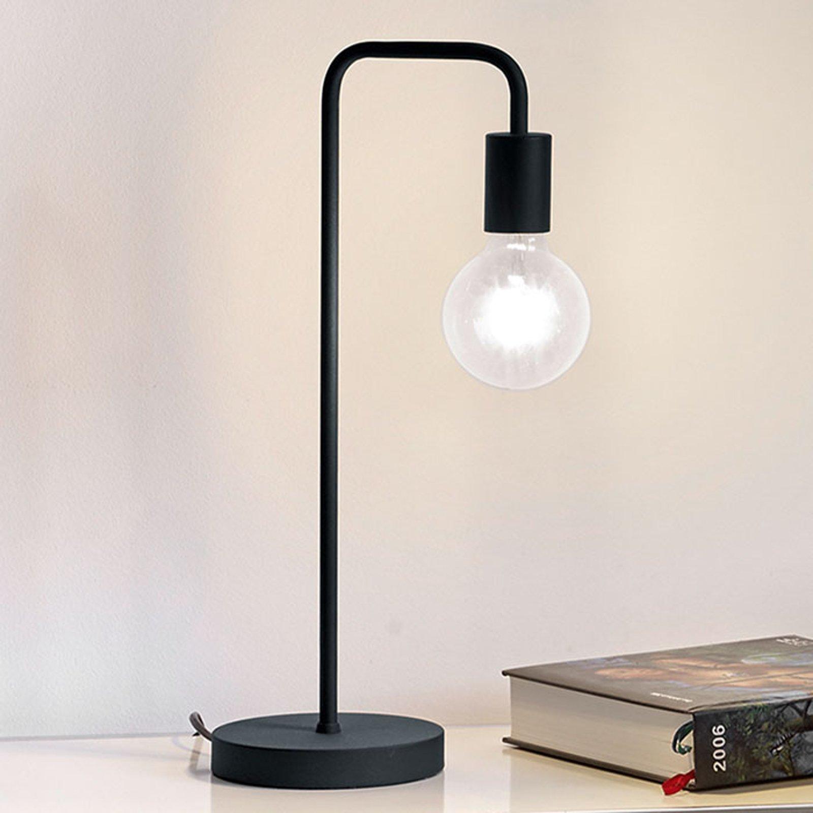 Bordlampe Diallo uten skjerm matt svart