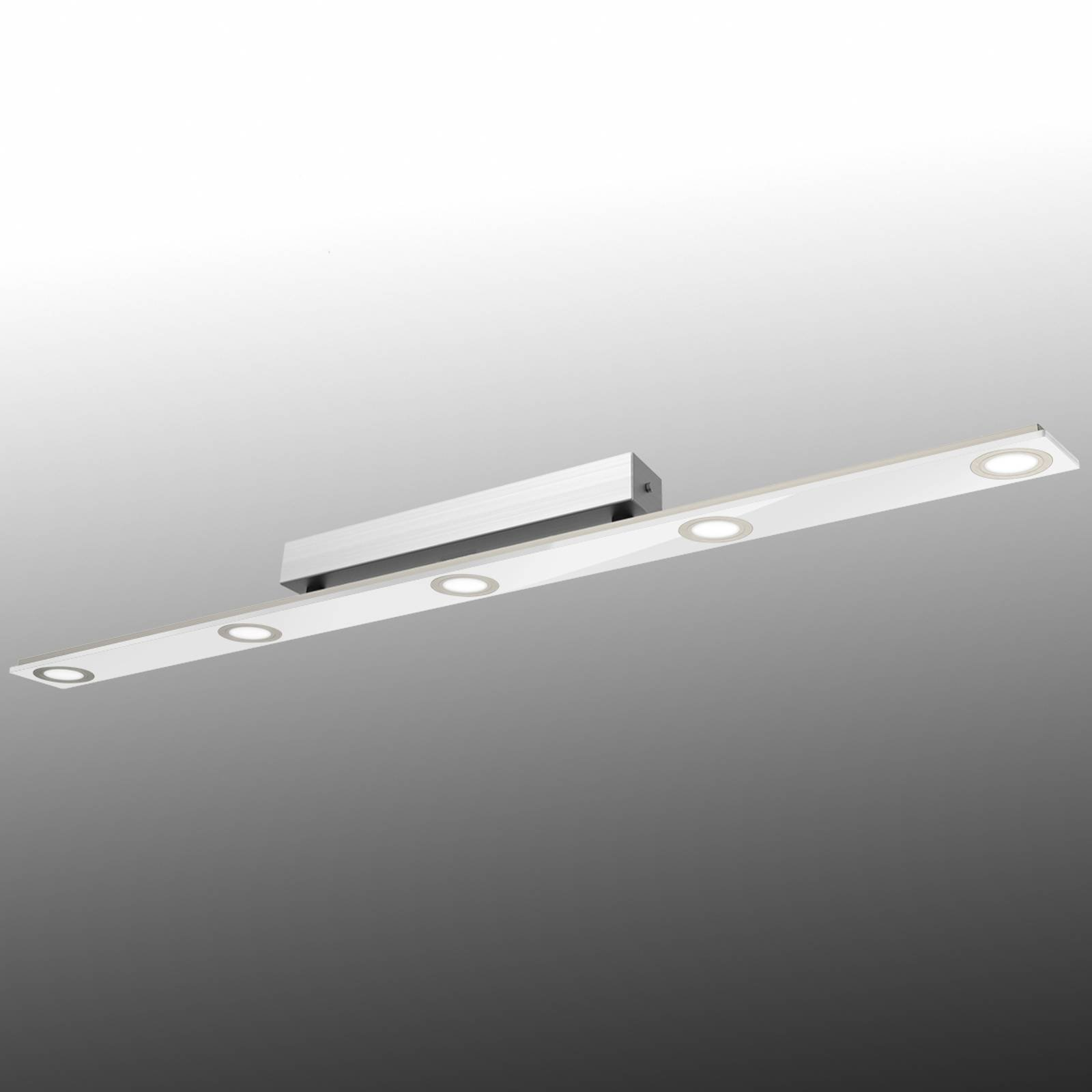 Avlang LED-taklampe Pano, hvit