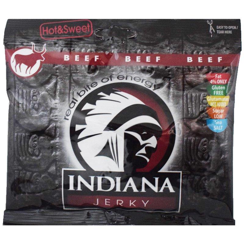 """Torkat Kött """"Indiana Jerky Hot & Sweet"""" 60g - 60% rabatt"""
