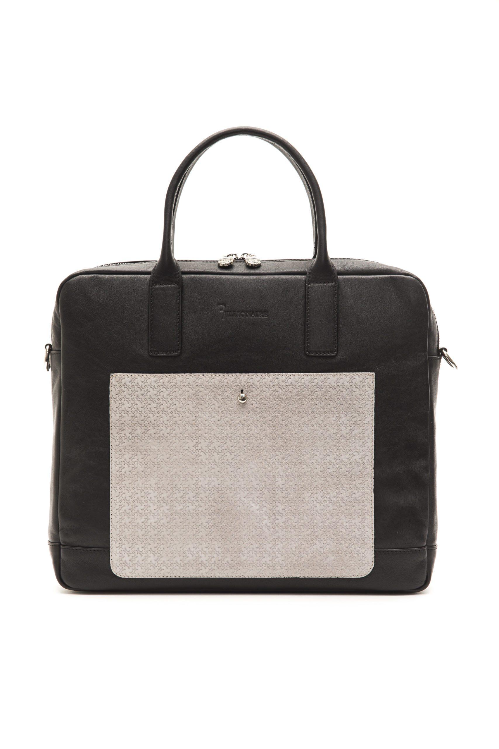 Billionaire Italian Couture Men's Messenger Bag Black BLC5040640-039CV_BlackGrey