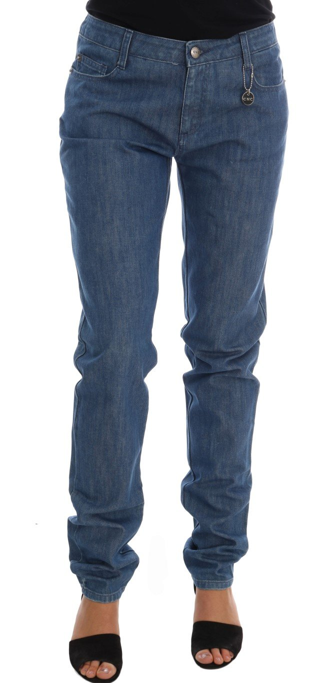 Costume National Women's Wash Cotton Boyfriend Fit Jeans Blue SIG30128 - W26