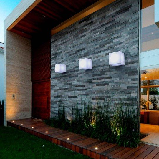 Newgarden Cuby 20 utendørs vegglampe i terningform